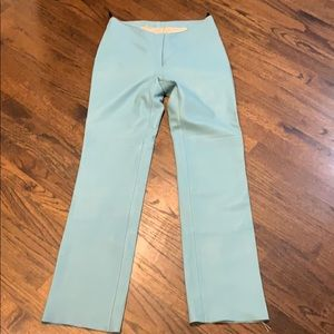 BEBE leather blue pants fully lined 8